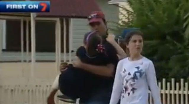 It's thought the girl was bitten by the dog while she was playing with another dog in her front yard. Source: 7News