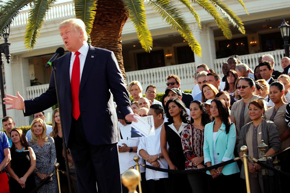 Donald Trump's Doral golf club was scheduled to host a golf tournament organized by a Miami-area strip club. (Reuters)