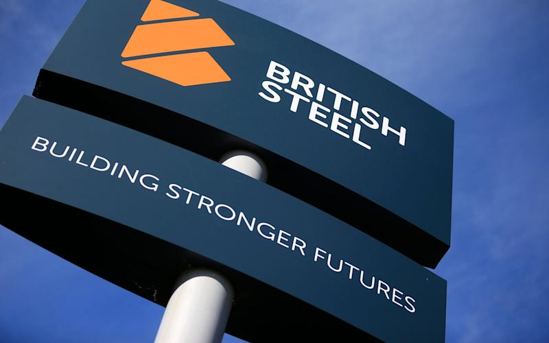British Steel sign  - LINDSEY PARNABY/AFP