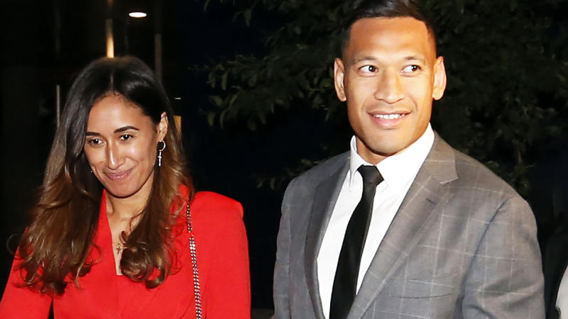 Maria and Israel Folau, pictured here leaving Federal Court after talks with Rugby Australia in December.
