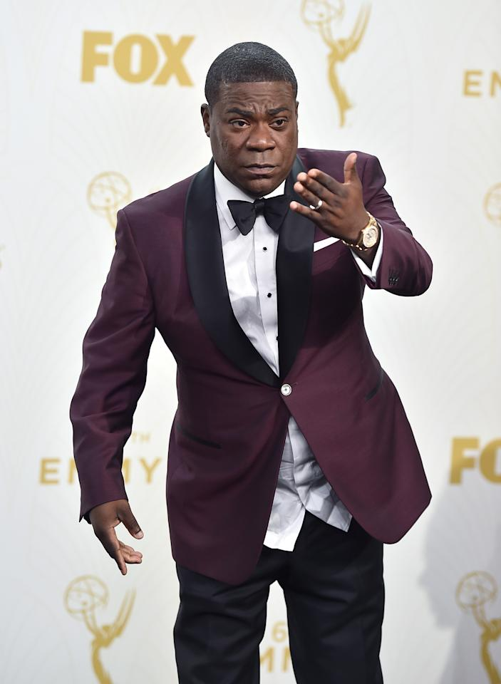 "FILE - In this Sept. 20, 2015 file photo, Tracy Morgan poses in the press room at the 67th Primetime Emmy Awards in Los Angeles. Morgan, Amy Schumer,  and ballerina Misty Copeland are on Barbara Walters' list of the most fascinating people of the year. The person deemed the most fascinating of all will be announced on ""Barbara Walters Presents: The 10 Most Fascinating People of 2015."" The 90-minute special airs 9:30 p.m. EST Thursday on ABC. (Photo by Jordan Strauss/Invision/AP, File)"