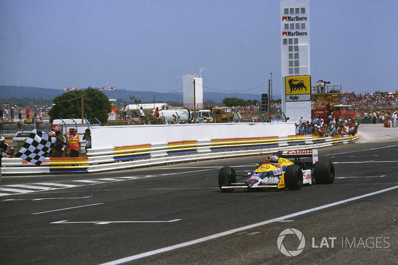 "Nigel Mansell - Williams FW11B-Honda - GP de Francia de 1987<span class=""copyright"">LAT Images</span>"