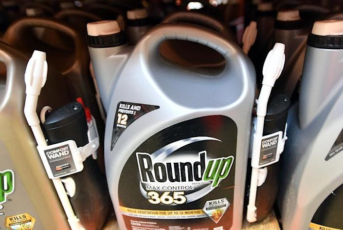A US jury has found that the Roundup weedkiller of Bayer's recently-acquired Monsanto caused cancer in a man who sprayed it on his garden over decades (AFP Photo/JOSH EDELSON)