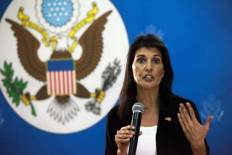 The US Ambassador to the United Nations Nikki Haley seen here last week at the US embassy in South Sudan will vote agaisnt the annual UN reolution condemning her country's trade embargo on Cuba