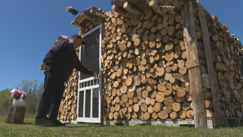 How a P.E.I. man transformed 5 cords of firewood into a cabin