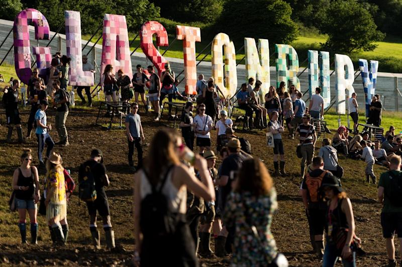 Plastic bottles could be banned from Glastonbury Festival from next year: Getty Images