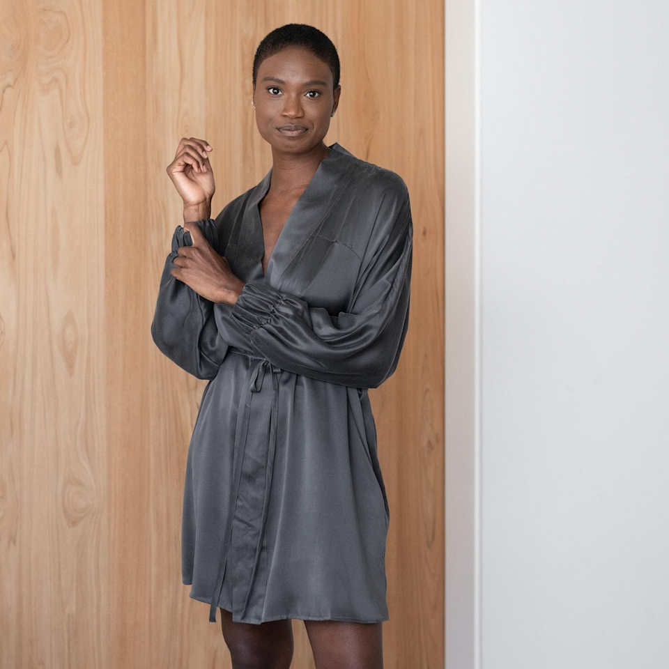 """<h2>Lunya Washable Silk Robe</h2><br>This slinky number is definitely a luxe addition to any loungewear wardrobe. This robe is made from 100% silk, comes in nine chic shades, and just like the name implies, is washable!<br><br>As one of the robe's 200 five-star reviews mentions, """"This robe is somehow both totally chic and luxurious, yet perfect to throw on and lounge around in. This robe makes weekends feel fancy.""""<br><br><br><br><strong>Lunya</strong> Washable Silk Robe, $, available at <a href=""""https://go.skimresources.com/?id=30283X879131&url=https%3A%2F%2Fwww.lunya.co%2Fcollections%2Frobes%2Fproducts%2Fwashable-silk-robe"""" rel=""""nofollow noopener"""" target=""""_blank"""" data-ylk=""""slk:Lunya"""" class=""""link rapid-noclick-resp"""">Lunya</a>"""