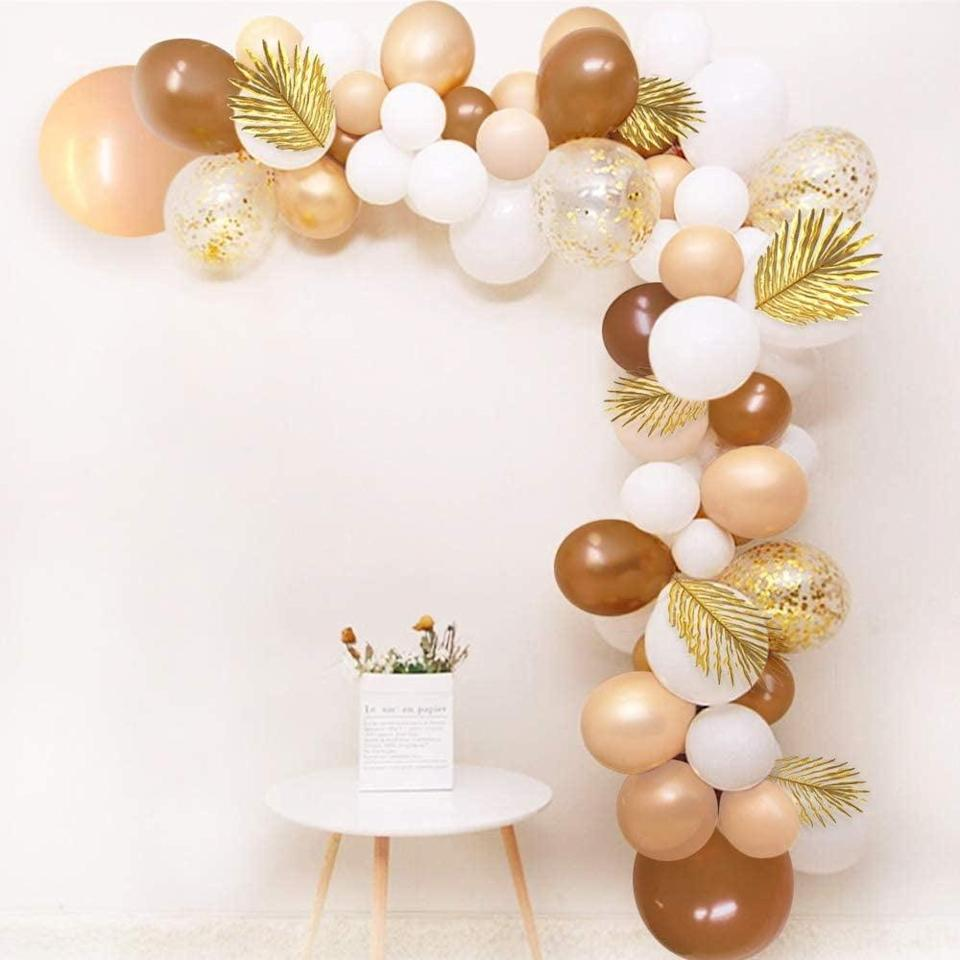 <p>Go neutral with this <span>Sweet Baby Co. Neutral Brown Balloon Garland Arch Kit</span> ($20).</p>