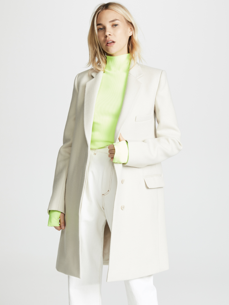 Helmut Lang Essential Crombie Coat. (Photo: Shopbop)