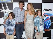 <p>Lively attended husband Ryan Reynolds's premiere of the animated film <i>Turbo</i> with half-brother and fellow actor Jason Lively and his sons on July 9, 2013.<i> (Photo: Jim Spellman/WireImage)</i></p>