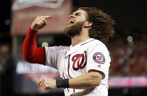 Saturday was two months to the day of Bryce Harper's last home run. (AP)