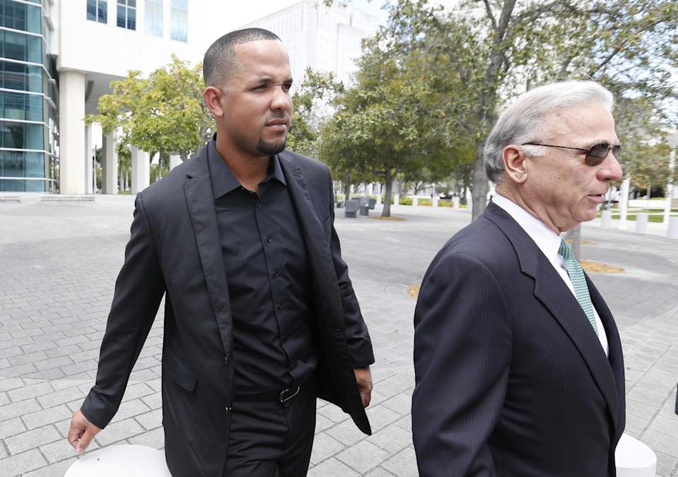 Jose Abreu was one of the players who testified in the trial of Hernandez and Estrada. (AP)