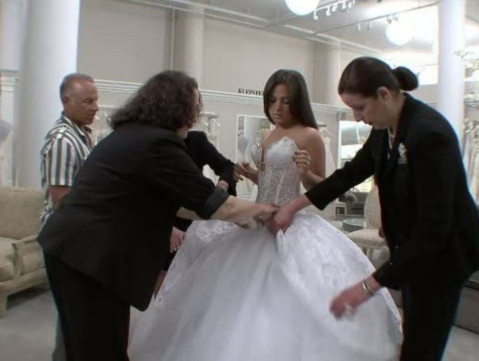 """<p>Kleinfeld Bridal has a very busy reservation book. To accommodate the store, and allow more consultants to help the <em>SYTTD </em>bride, the show <a href=""""https://www.goodhousekeeping.com/life/entertainment/a30457738/say-yes-to-the-dress-tlc-behind-the-scenes-secrets/"""" rel=""""nofollow noopener"""" target=""""_blank"""" data-ylk=""""slk:tapes during the week"""" class=""""link rapid-noclick-resp"""">tapes during the week</a> on Mondays, Tuesdays, Thursdays and Fridays.</p>"""