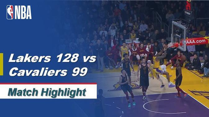 VIDEO: Highlights NBA 2019-2020, LA Lakers Vs Cleveland Cavaliers 128-99