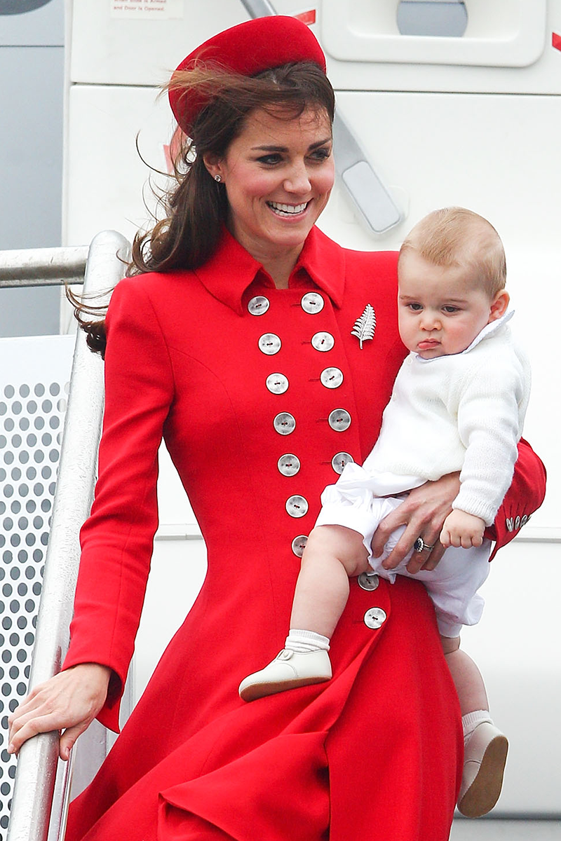 <p>Kate sported a similar style with a matching pill box hat for the Duke and Duchess of Cambridge's royal tour of Australia and New Zealand in April 2014.</p>