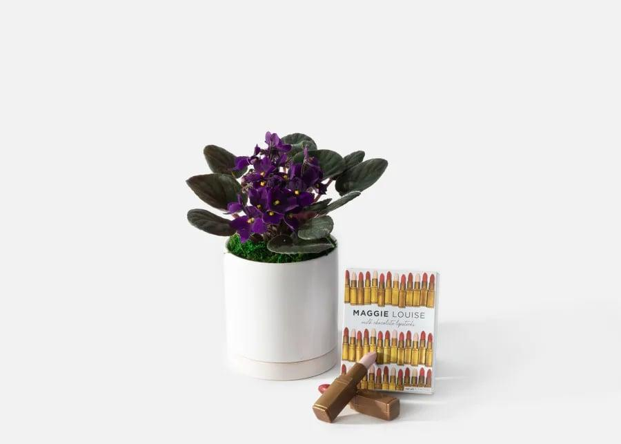 <p>Flowers and chocolate is the ultimate combination, and this <span>Urbanstems The Gloss</span> ($60) set will make anyone smile.</p>
