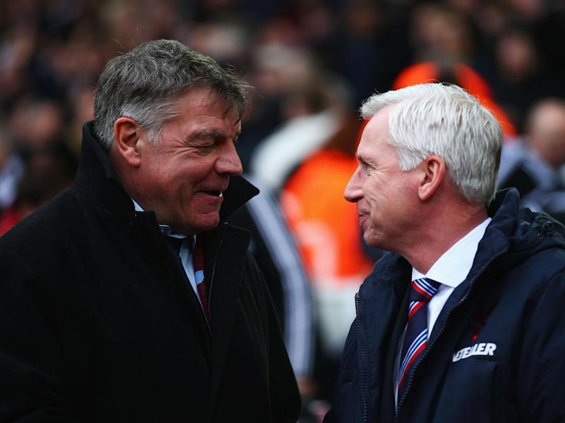 Palace past and present: Sam Allardyce and Alan Pardew shake hands