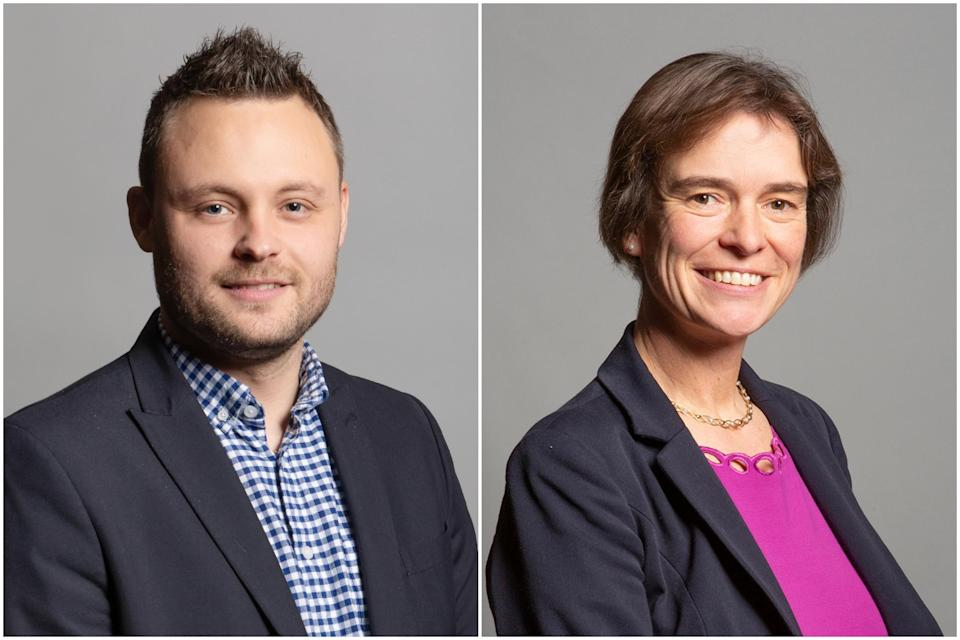 Ben Bradley, left, and Selaine Saxby: Houses of Parliament