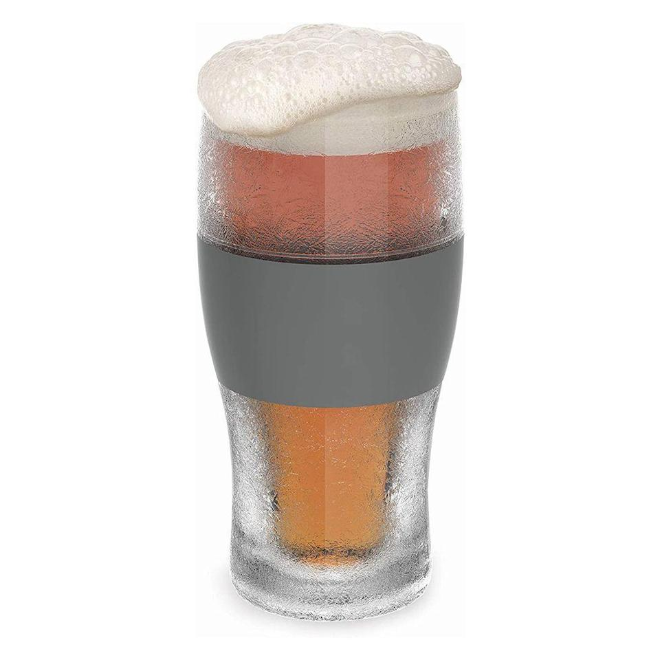 """<p><strong>Host</strong></p><p>amazon.com</p><p><strong>$29.98</strong></p><p><a href=""""https://www.amazon.com/FREEZE-Cooling-Pint-Glasses-HOST/dp/B00OJI35GA?tag=syn-yahoo-20&ascsubtag=%5Bartid%7C2089.g.1453%5Bsrc%7Cyahoo-us"""" rel=""""nofollow noopener"""" target=""""_blank"""" data-ylk=""""slk:Shop Now"""" class=""""link rapid-noclick-resp"""">Shop Now</a></p><p>Since there's nothing worse than a lukewarm beer, make sure your Dad's brew is chilling all night long with these clever cooling cups. All he needs to do is pop them into the freezer at least 2 hours before sipping to keep his pilsner chilling for the long haul.</p><p>This beer gift is not only super affordable, but it's practical and something a beer drinker will use on the regular.</p>"""