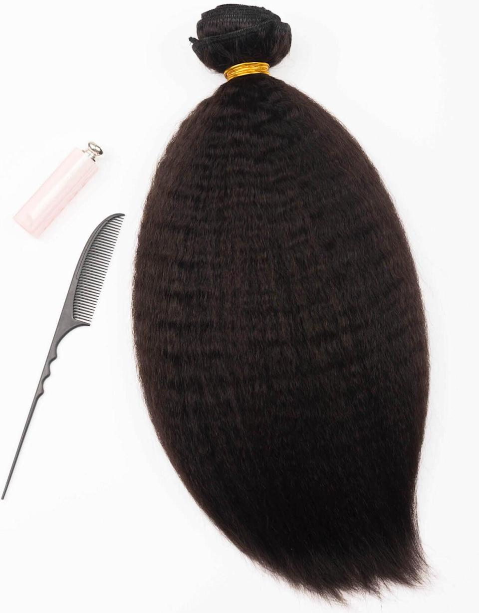 <p><span>BetterLength Kinky Straight Clip In Hair Extensions</span> ($150)</p>
