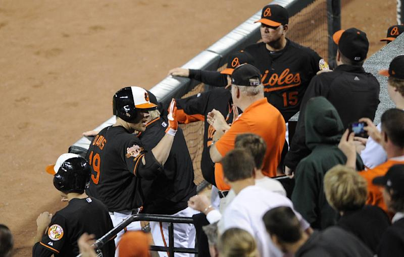 Davis' 4 RBIs carry Orioles past Indians 8-4