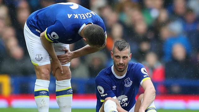 Everton's injury concerns are growing, with Morgan Schneiderlin the latest to be ruled out of the match against Liverpool.