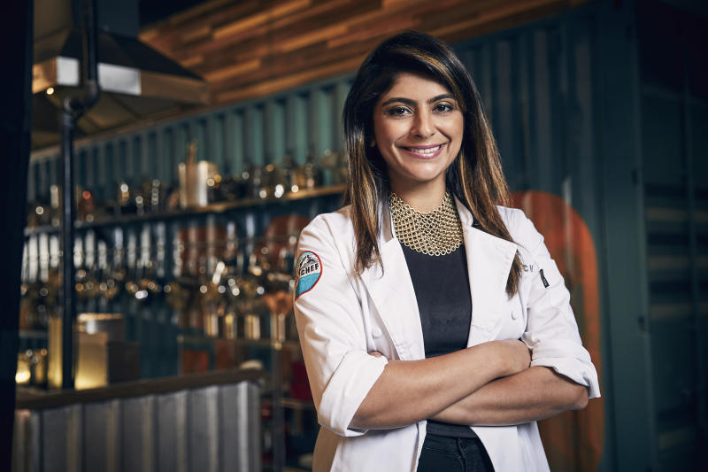 "Fatima Ali's mom traveled to Italy to fulfill her daughter's wish of getting a seat at Chef Massimo Bottura's table. Her the late chef is pictured on Season 15 of ""Top Chef."" (Photo: Garcia/Bravo/NBCU Photo Bank via Getty Images)"
