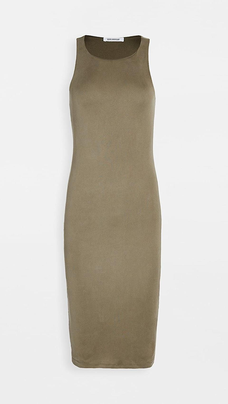 <p>This <span>Good American Rib Knit Midi Dress</span> ($99) is such a good staple.</p>