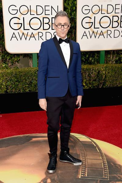 Alan Cumming in Kenneth Cole at the 73rd Golden Globe Awards.
