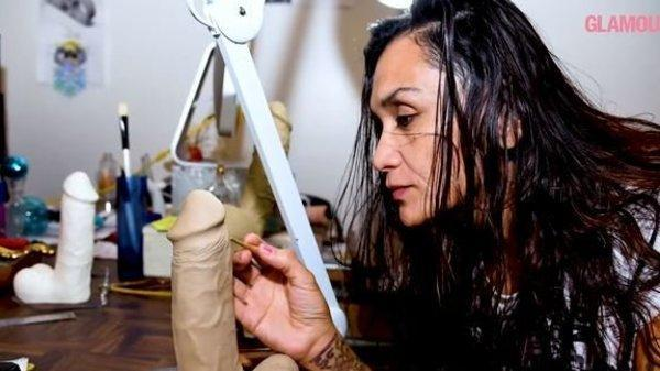 Painstakingly sculpting a dildo is all in a days work for Anjani Siddhartha.