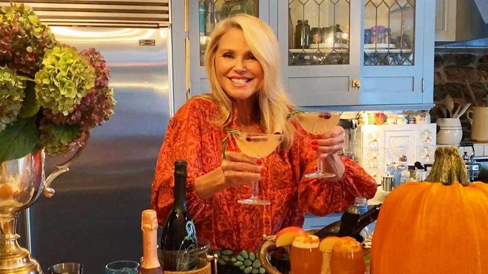 Christie Brinkley's festive holiday drinks for 'making the people around you happy'