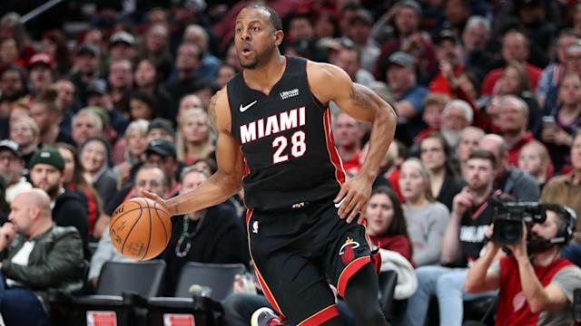 Having won three NBA championships with the Golden State Warriors, Andre Iguodala returned to face his old side with the Miami Heat.