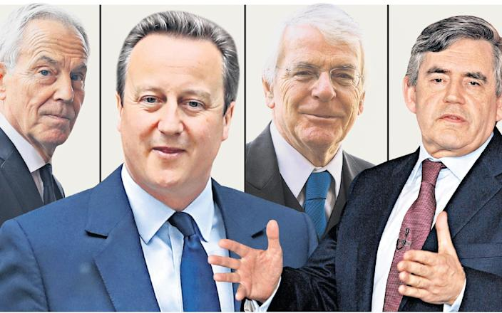 Tony Blair, David Cameron, Sir John Major and Gordon Brown will give the committee the value of their experience into the Whitehall machine