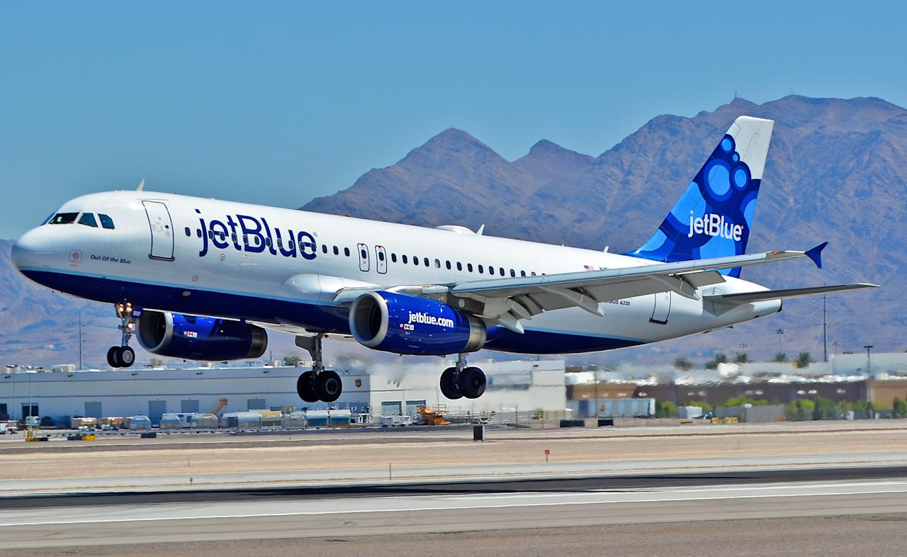 "<p>No. 9 least punctual airline: JetBlue Airways Corporation<br />OTP Rating: 75.76<br />(<a rel=""nofollow"" title=""Go to Tomás Del Coro's photostream"" href=""https://www.flickr.com/photos/tomasdelcoro/"">Tomás Del Coro</a> / Flickr) </p>"