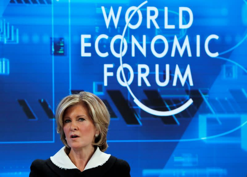 FILE PHOTO: 2019 World Economic Forum (WEF) annual meeting in Davos