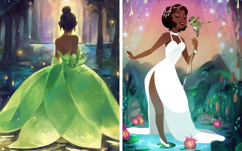 These never-before-seen images of Disney's Princess Tiana are absolutely stunning