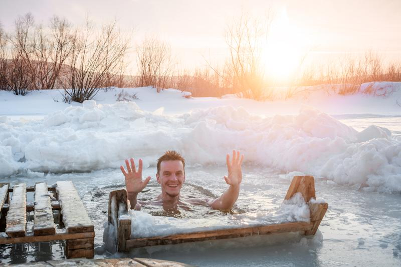 winter ice swimming