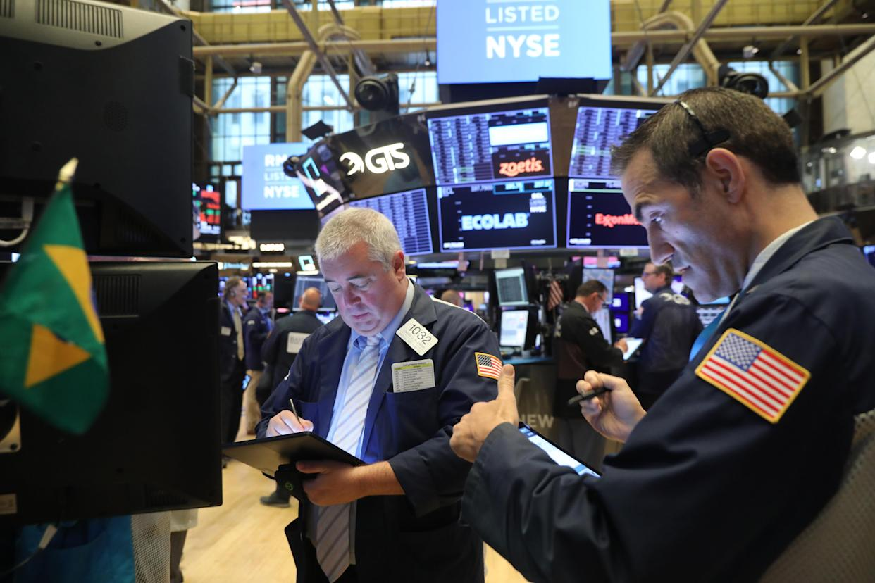 NEW YORK, NEW YORK - SEPTEMBER 30: Traders work of the floor of the New York Stock Exchange (NYSE) on September 30, 2019 in New York City. Markets around the world continue to be volatile following political uncertainties in America, Britain and China. (Photo by Spencer Platt/Getty Images)