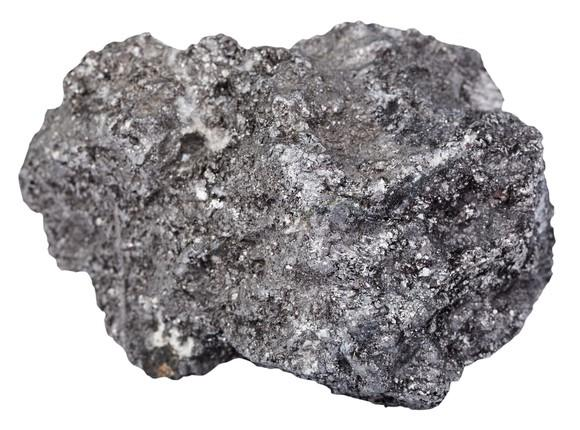 Chunk of black graphite