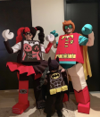 <p>The Timerlake-Biel clan went for a family costume theme, dressing up as lego pieces (with son Silas Randall donning a Lego Batman suit). <i>[Photo: Instagram]</i> </p>