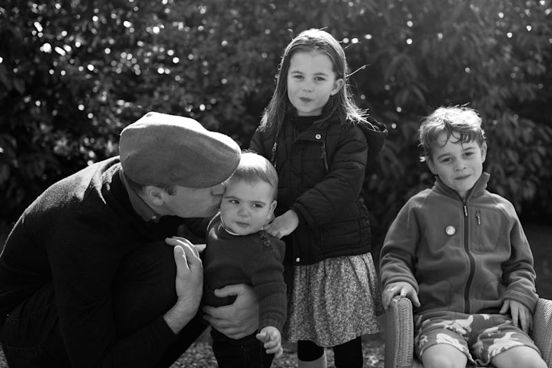 The Duke of Cambridge, Prince Louis, Princess Charlotte and Prince George taken in Norfolk earlier this year by the Duchess of Cambridge. (Photo: Press Association Images)