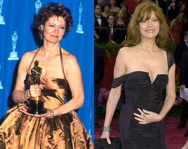 """In 1996 Susan Sarandon won Best Actress for her performance in """"Dead Man Walking."""" In 2004 she walked the red carpet in a little black dress that made her look younger then when she won eight years earlier."""