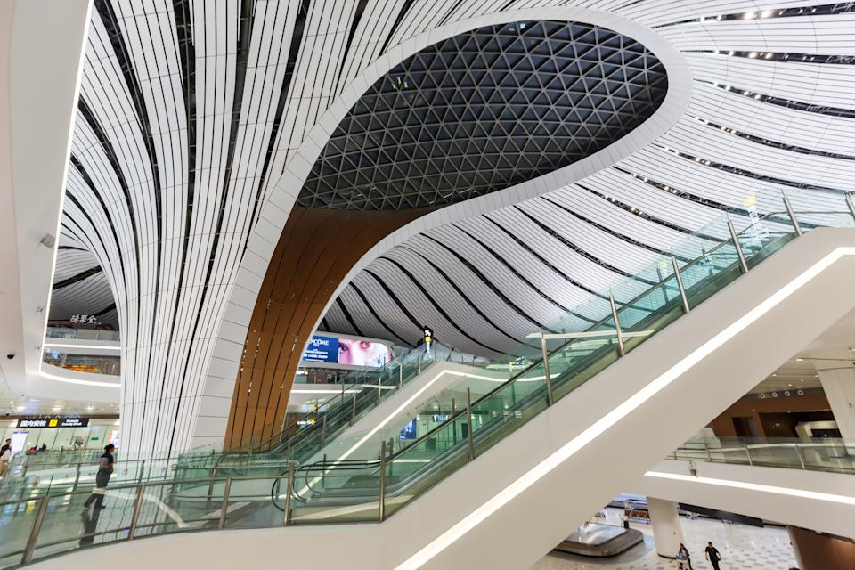 Beijing Daxing New International Airport Terminal (PKX) in China.