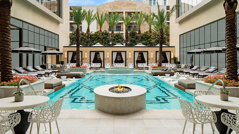The pool at The Post Oak hotel in Houston
