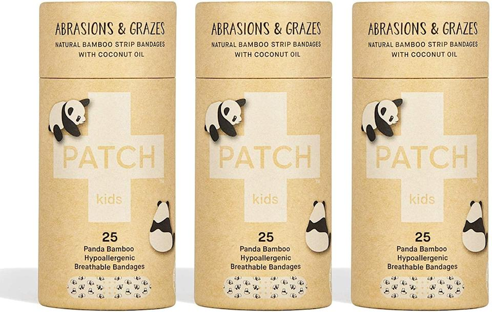 """<h3>PATCH Eco-Friendly Bamboo Bandages With Coconut Oil</h3><br>An eco-friendly take on those regular-old bandaids you're used to getting in your holiday stocking — this three-pack of bandages are crafted from organic bamboo materials and infused with soothing coconut oil.<br><br><strong>Patch</strong> Eco-Friendly Bamboo Bandages, Coconut Oil (3-Pack), $, available at <a href=""""https://amzn.to/36vKuph"""" rel=""""nofollow noopener"""" target=""""_blank"""" data-ylk=""""slk:Amazon"""" class=""""link rapid-noclick-resp"""">Amazon</a>"""