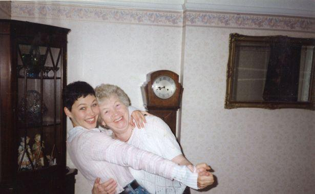 Emma with her paternal grandmother Edna Griffiths in 1994 (Image: Steve and Cathy Griffiths/BBC)