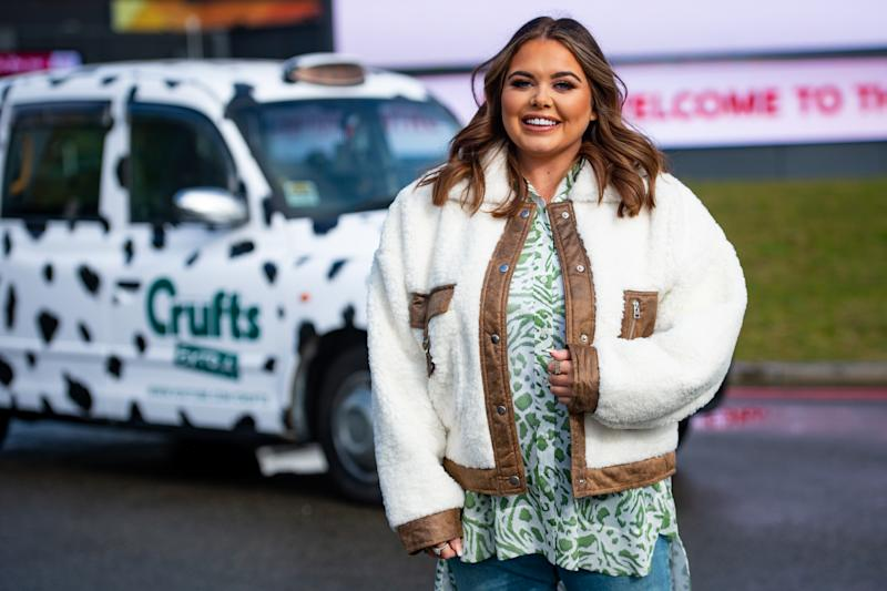 Scarlett Moffatt at the Birmingham National Exhibition Centre (NEC), Birmingham, to launch the forthcoming Crufts Dog Show. (Photo by Jacob King/PA Images via Getty Images)