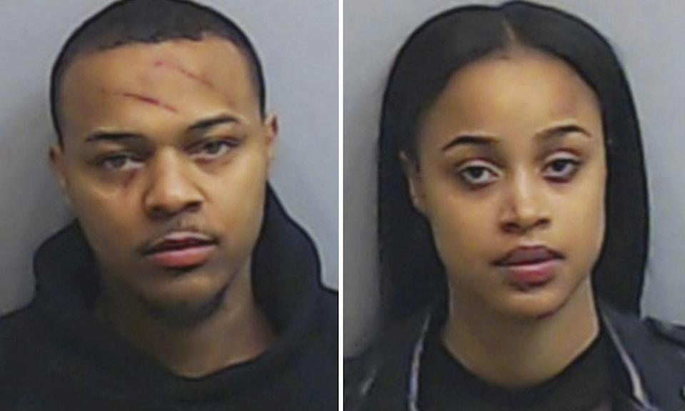 <p>On February 2, 2019, the rapper was arrested and charged with battery along with now-ex-girlfriend Kiyomi Leslie following an alleged altercation. Both parties sustained minor injuries and were held under arrest by Atlanta police before Bow Wow was released on an $8,000 bond. He claims he was the victim but CCTV footage from earlier in the night sees him aggressively shouting in Leslie's face during an elevator ride. (Credit: Fulton County Sheriff's Office via AP) </p>