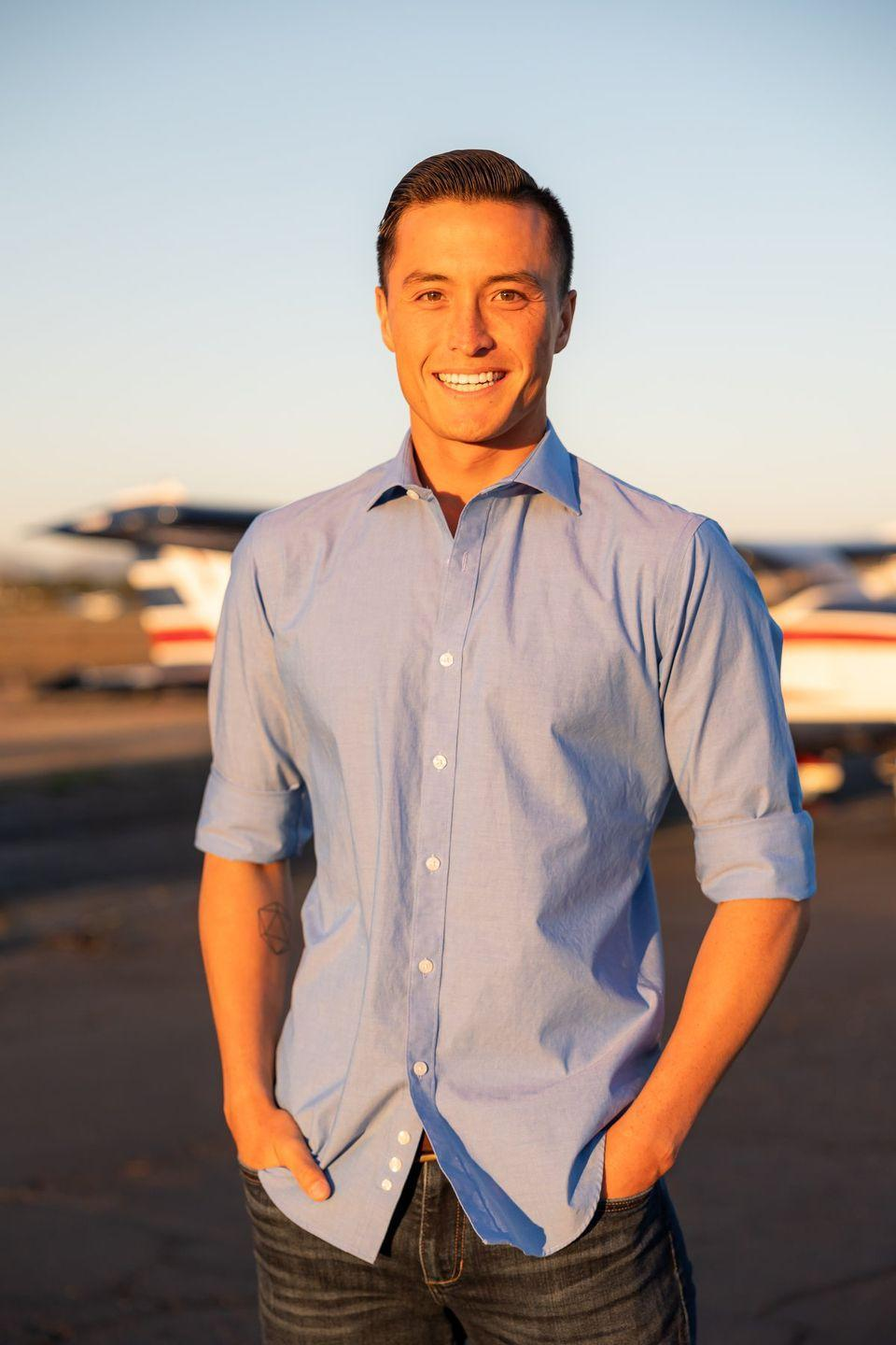 """<p>Is that an airplane in the background of his pic I see? Yes, and he is training to become a pilot. Here's hoping he's nothing like Pilot Pete. John does have golden hour lighting working in his favor.</p><p><strong>Age: 27</strong></p><p><strong>Hometown: Santa Cruz, CA</strong></p><p><strong>Instagram: <a href=""""https://www.instagram.com/johnalexhersey/"""" rel=""""nofollow noopener"""" target=""""_blank"""" data-ylk=""""slk:@johnalexhersey"""" class=""""link rapid-noclick-resp"""">@johnalexhersey</a></strong></p>"""