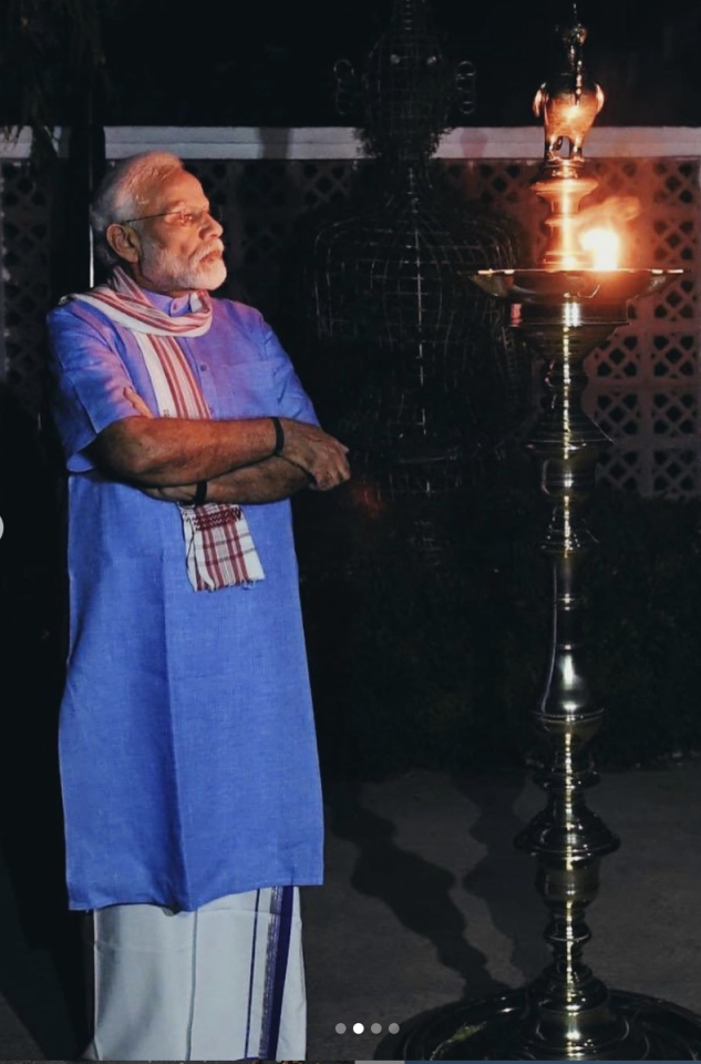 We asked you to use your creativity and caption this photo of Prime Minister Narendra Modi looking on after lighting the 'diya' amidst the COVID-19 darkness, and here's what some of you said...